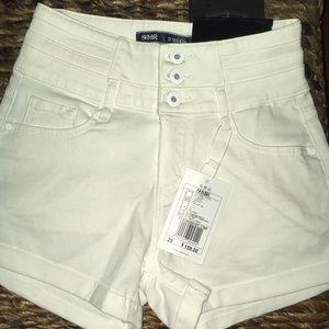 SEMIR Hi-Waisted shorts White Size 25 NWT